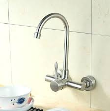single handle wall mount kitchen faucet wall mount kitchen faucet with sprayer and single handle stainless