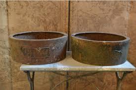 pair of cast iron planters vinterior