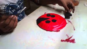 how to make ladybird with paper plate ladybird made of paper plate