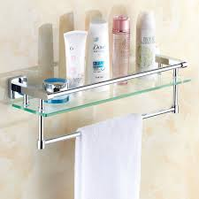 Bathroom Corner Shelves Glass by Bathroom Bathroom Glass Towel Shelves Modern Double Sink