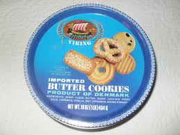 tin 20 vintage 80s shortbread blue cookie tin