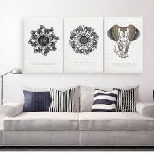 canvas decorations for home w199 bohemia elephant unframed art wall canvas prints for home