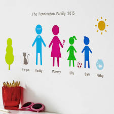personalised family wall stickers portrait by kidscapes personalised family wall stickers portrait