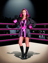 womens boxer pink with black costume by dreamgirl