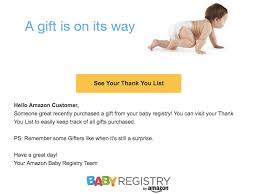 baby gift registry list emails users saying they ll get a baby gift business insider