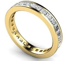 gold eternity ring 18ct gold 1 carat princess diamond eternity ring 5144 newburysonline