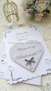 bridesmaid invitations uk will you be my bridesmaid card with heart fridge by aandfcrafts