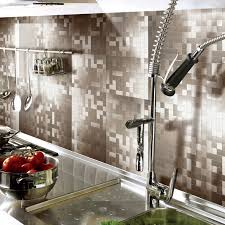 metal backsplashes for kitchens 71 great showy peel stick metal tiles and for kitchen backsplash