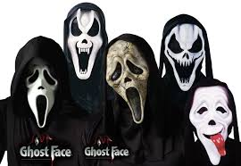 ghost glow mask ghost face mask with shroud assortment halloween