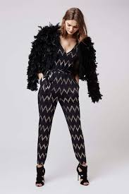 topshop jumpsuit zig zag strappy jumpsuit rompers jumpsuits clothing zig