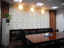 classic dining room with white wave shaped frp wall panels glazed