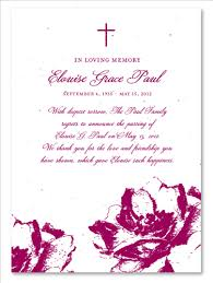 Funeral Invitation Sample Funeral Announcements Poppy On Seeded Paper Hand Drawn Poppies