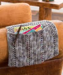 Armchair Remote Caddy Arm Chair Remote Caddy Crochet Baskets Cases Pinterest