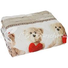 piumone 1 piazza e mezza trapunta invernale piumone orsetti teddy letto 1 piazza e