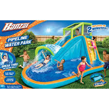 Water Slides Backyard by Banzai Pipeline Water Park Inflatable Water Slide With Pool For