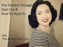 midi haircut the perfect vintage hair cut aka how to style a middy cut youtube
