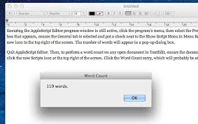 Count Words In A Text Document 5 Top Tips For Textedit Os X Tips Cult Of Mac