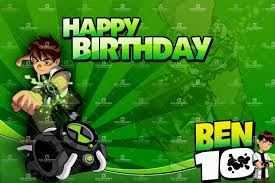 Invitation Card 7th Birthday Boy Ben 10 Birthday Invitation Cards Decorating Of Party