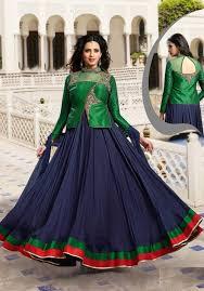 jacket anarkali dresses buy online uk green u0026 blue designer anarkali