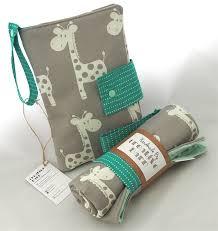 chagne gift set grey giraffe green nappy wallet change mat gift set creative