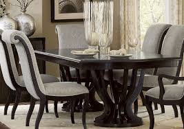 savion espresso natural tone extendable dining room set from