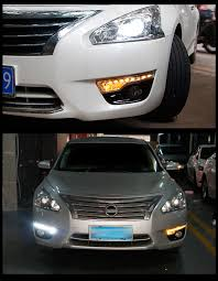 nissan altima 2013 headlight bulb size pair plug and play led daytime running light lamp drl for 2013