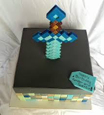 delectable cakes minecraft sword cake