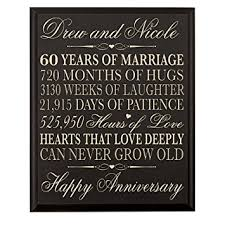 60th anniversary gifts personalized 60th wedding anniversary gift for parents
