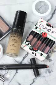 affordable makeup haul colourpop milani elf covergirl