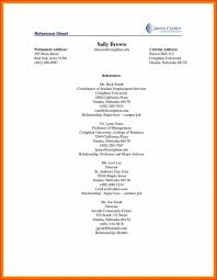 Best Resume Font And Size 2017 by Reference Sheet For Resume Resume For Your Job Application