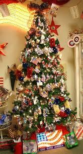 patriotic christmas tree christmas tree holidays and pine cone