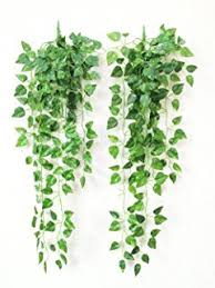 Artificial Plant Decoration Home Amazon Com Atificial Fake Hanging Vine Plant Leaves Garland Home