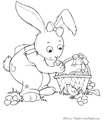 cute bunny coloring pages free printable pictures coloring pages