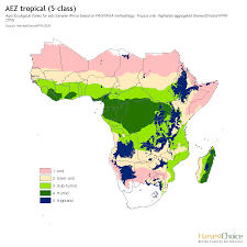 Subsaharan Africa Map by Climatic Zones Harvestchoice