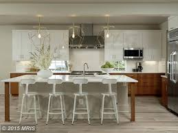 modern kitchen with high ceiling u0026 breakfast bar in washington dc