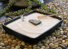 Japanese Desk Accessories Decoration Ideas Exciting Square White Sand And Brown Pebble