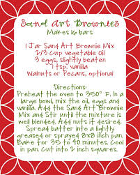 brownie mix gifts free printable label