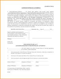 Power Of Attorney Legal Forms by 7 Special Power Of Attorney Form Week Notice Letter
