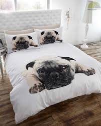 Space Single Duvet Cover Pug Dog Quilt Duvet Cover And Pillowcase Bedding Set White