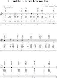 i heard the bells on day chords sheet and tab