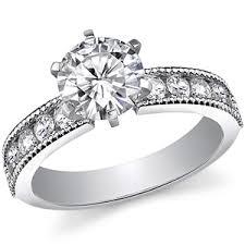 milgrain engagement ring brilliant moissanite milgrain engagement ring 0 60ct