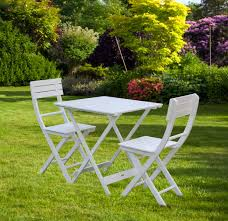 Garden Bistro Table Bentley Garden Wooden White Bistro Table Andhairs Sets Ideas