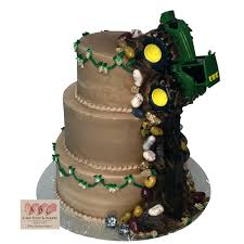 tractor cake topper 1601 3 tier deere tractor wedding cake abc cake shop bakery