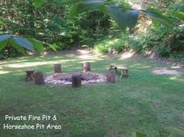 Horseshoe Fire Pit by Wil Deer Ness Cabin Secluded Firepit T Vrbo