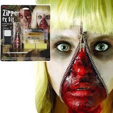 fake blood halloween makeup zipper fx make up kit fake zip zombie wound cut gore scar