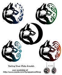 wolf tribal necklaces elements by skyenova deviantart com on