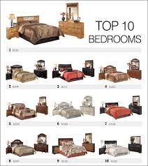names of furniture top 10 bedroom sets by ashley furniture spring 2013