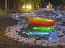 Outdoor Water Features With Lights Pool Design Ideas