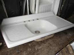 kohler cast iron farmhouse sink 1949 vintage kohler single basin double drainboard porcelain over