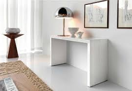 Modern Entry Table by Good Modern White Lacquer Console Table 58 With Additional Decor